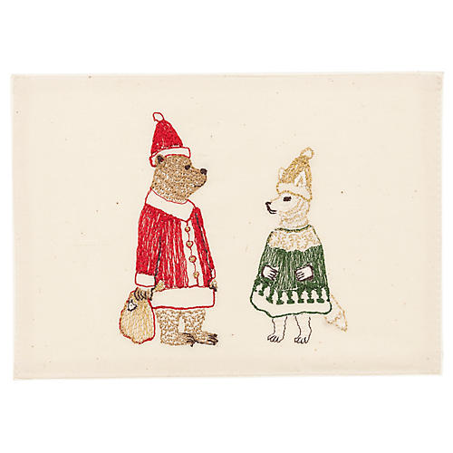 Claus Embroidered Stationery
