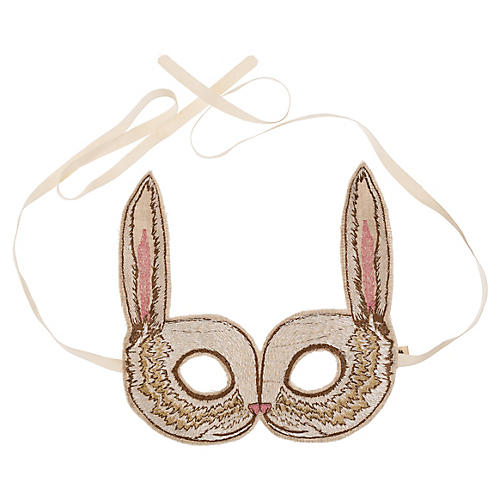 Bunny Mask, Beige/Multi