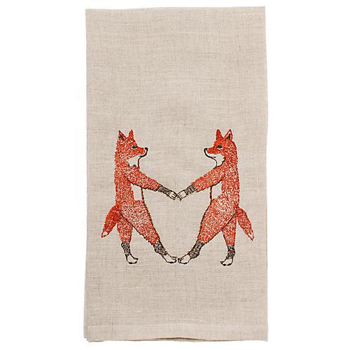 Fox Love Tea Towel