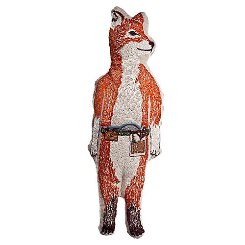 Fox 10x3 Pocket Doll, Linen