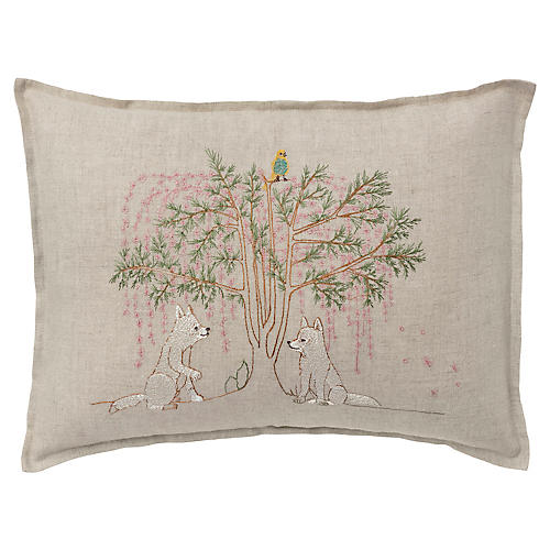 Friendship 12x16 Pillow, Linen