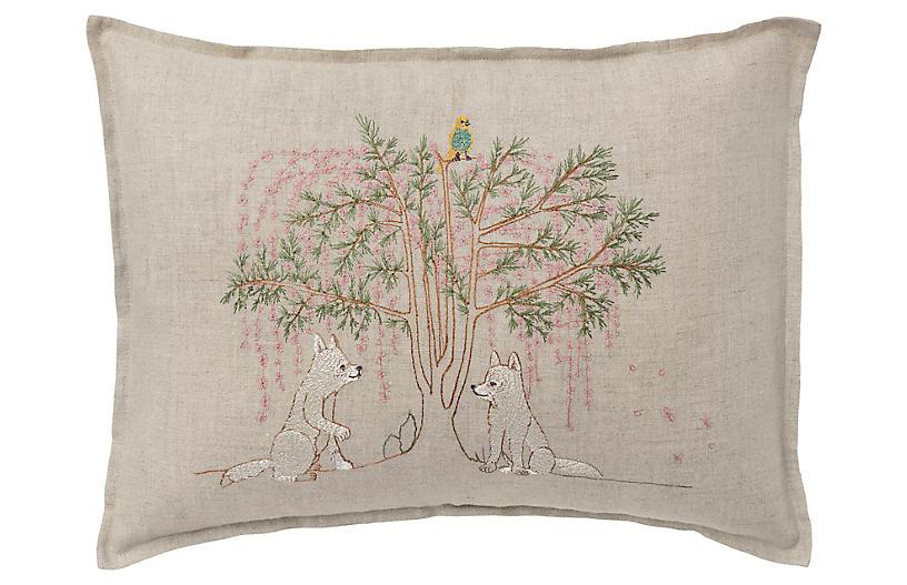 Friendship 12x16 Pillow, Linen