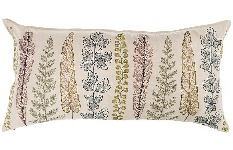 Plants 16x32 Pillow, Natural Linen