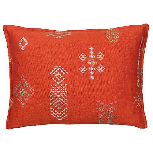 Tumbleweed 12x16 Pillow, Vermilion Linen