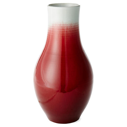 """18"""" Bowling Pin Vase, Red"""