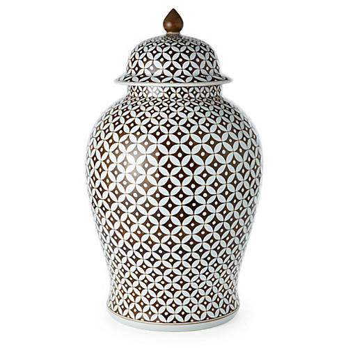 "25"" Star Jasmine Ginger Jar, Brown"