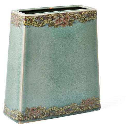 """10"""" Flower Vase, Celadon"""