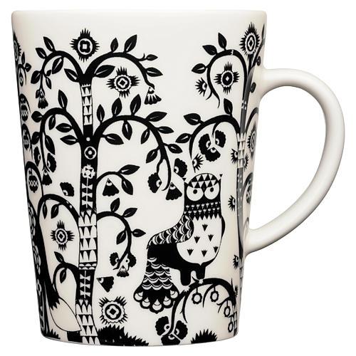 Taika 16 Oz Mug, White/Black