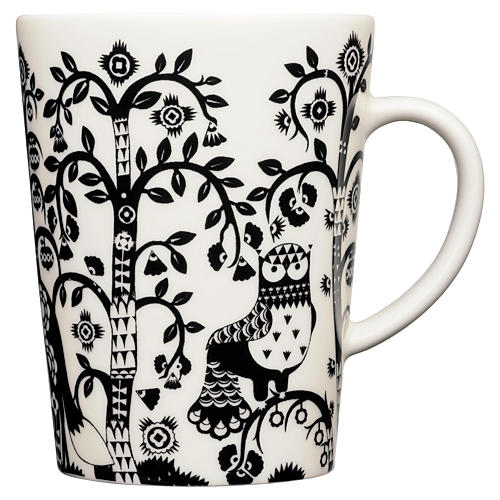 Taika 16 Oz Mug, White/Black