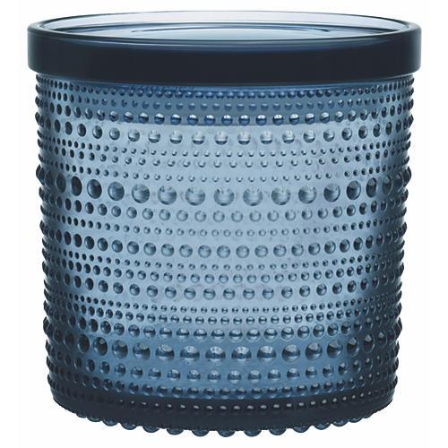 Kastehelmi Large Jar, Rain Blue