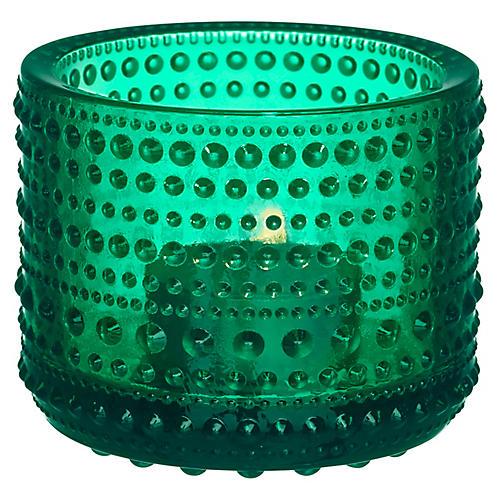 "3"" Kastehelmi Tealight Candleholder, Emerald"