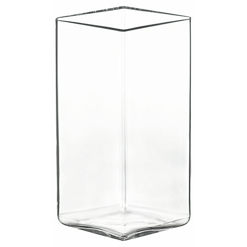 "11"" Ruutu Large Vase, Clear"