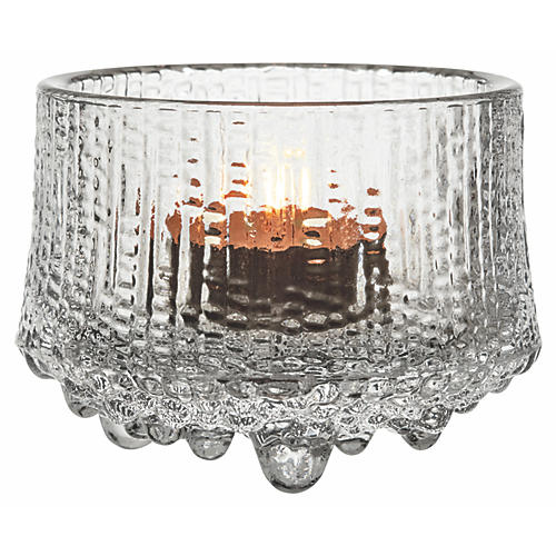 "3"" Ultima Thule Tealight Candleholder, Clear"
