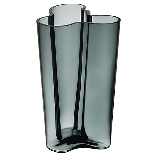 "10"" Aalto Finlandia Vase, Gray"