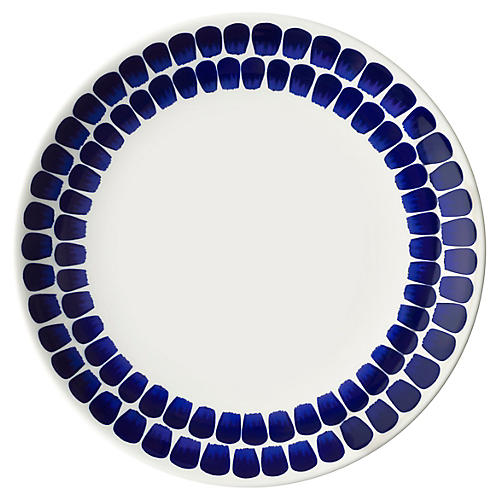 Tuokio Dinner Plate, Blue/White