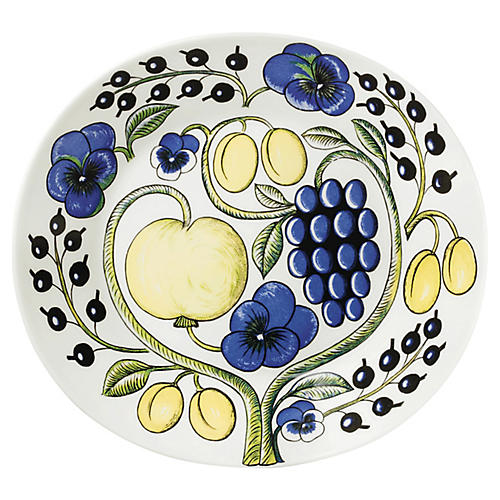 Paratiisi Oval Plate, White/Multi