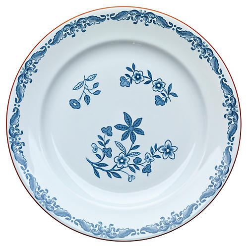Ostindia Bread Plate, Blue/White