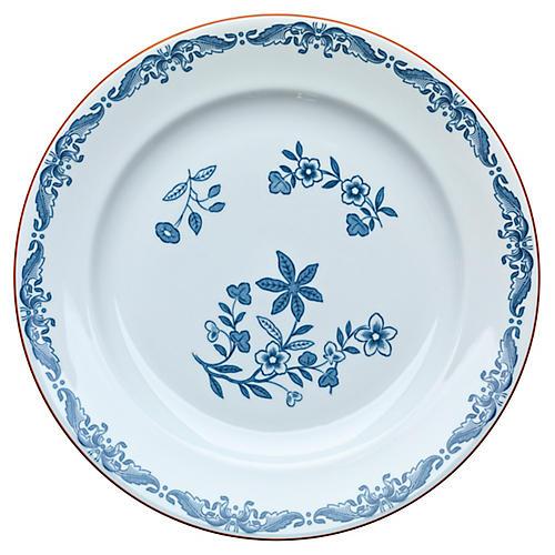 Ostindia Bread Plate, Blue/White