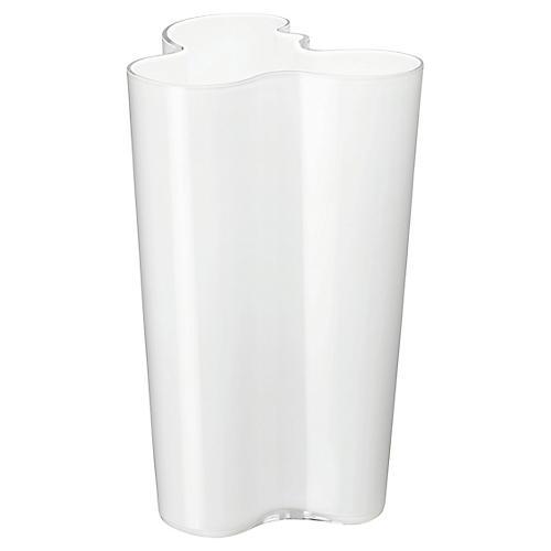 "10"" Aalto Finlandia Vase, White"