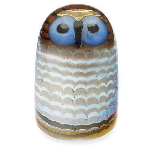 """4"""" Toikka Owlet Figurine, Blue/Multi"""