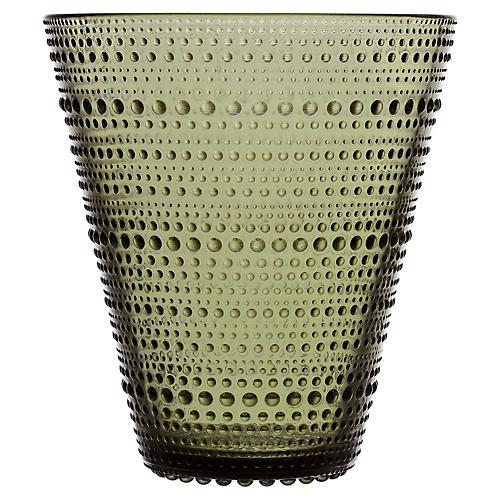 "6"" Kastehelmi Vase, Moss Green"