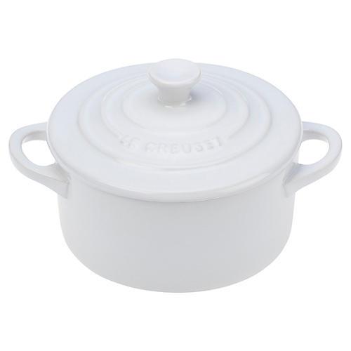 8 Oz Mini Round Cocotte, White