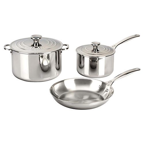5-Pc Cookware Set, Silver