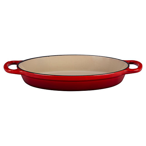 1 Qt Signature Oval Baker, Cherry
