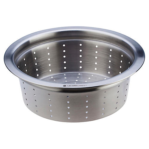 5.5 Qt Steamer Inset, Silver