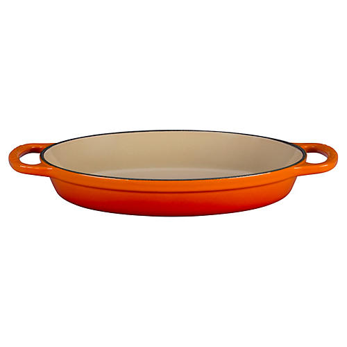 1 Qt Signature Oval Baker, Flame