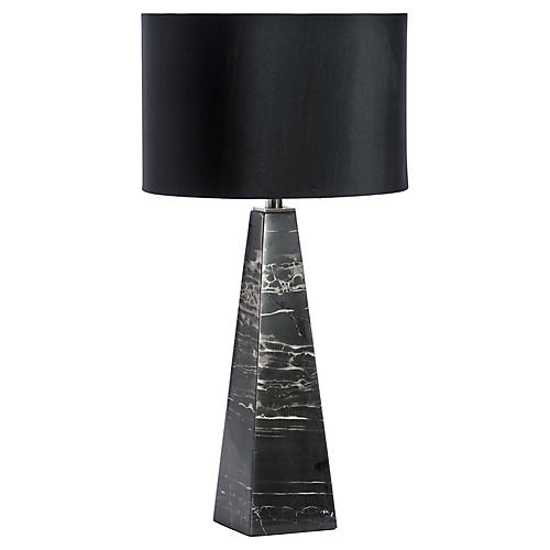 Maddox Marble Table Lamp, Black