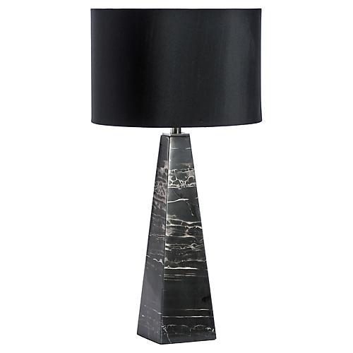 Maddox Marble Table Lamp, Black