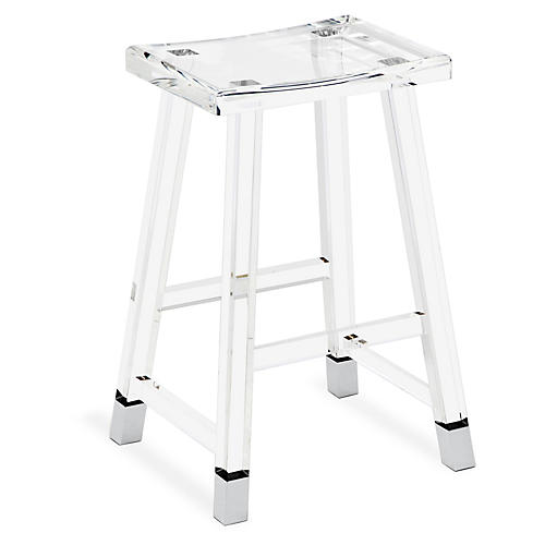 Reeta Acrylic Counter Stool, Clear