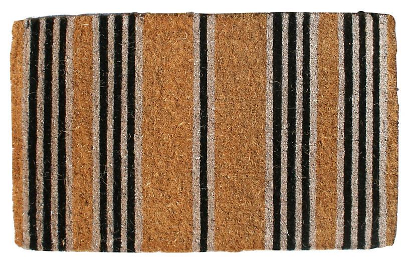 Stripes Outdoor Mat - Brown/Black