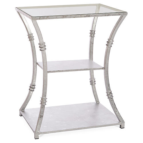 Silas Side Table, Silver