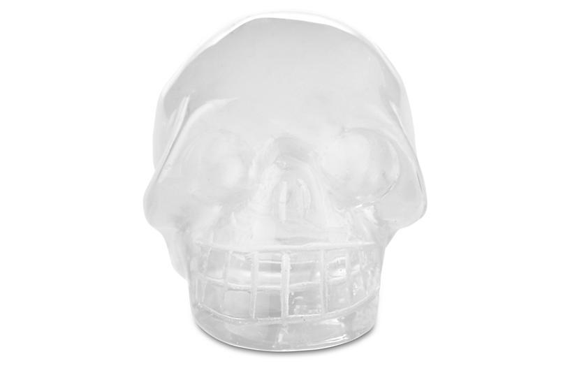 Polished Crystal Skull Figurine