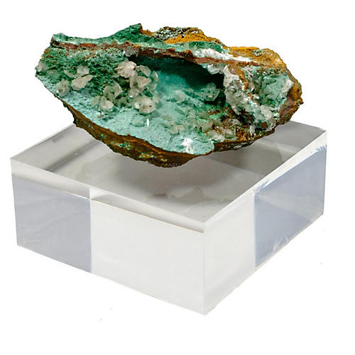 """4"""" Mineral Accent, Green/Clear"""