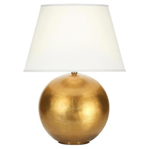 Pomona table lamp gold leaf white one kings lane