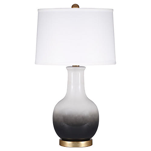 Madison Table Lamp, Black Ombré