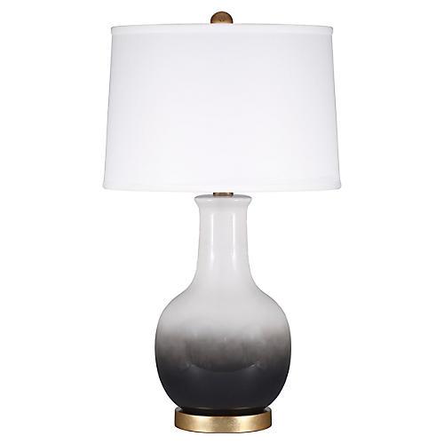 Madison Table Lamp, Black Ombré