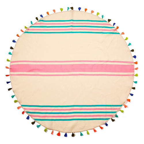 Lisa Round Beach Blanket, Pink