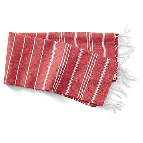 Basic Hand Towel, Red/White