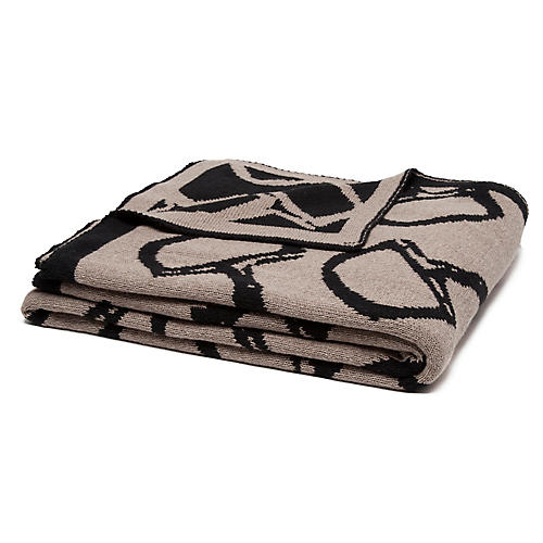 Eco Reversible Bit Throw, Black