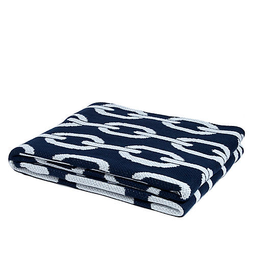 Links Outdoor Throw, Navy