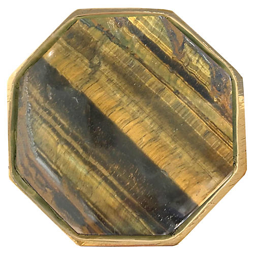 Harrison Large Pull, Brass/Tiger's Eye