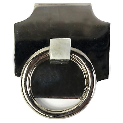 Porter Backplate Ring, Nickel/Moonstone