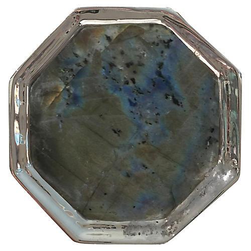 Harrison Small Pull, Nickel/Labradorite