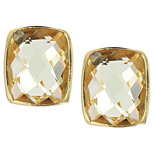 Whitten Stud Earrings, Lemon