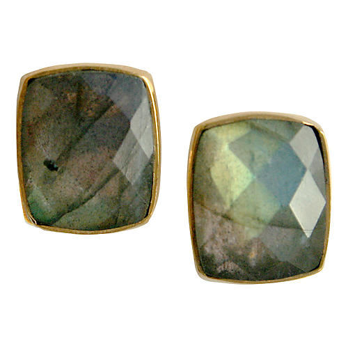Whitten Stud Earrings, Labradorite