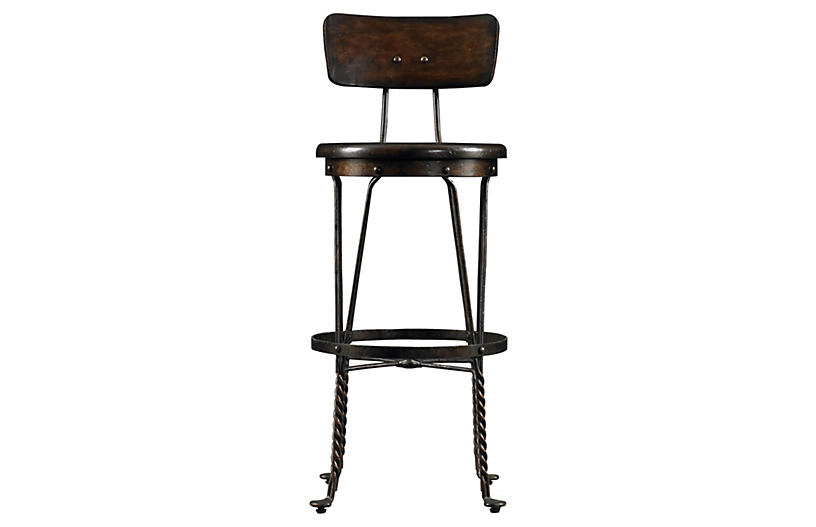 Farmhouse Barstool - Chocolate